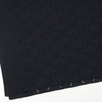 コットン×オーバル(ブラック)×ローン刺繍_全10色 サムネイル2