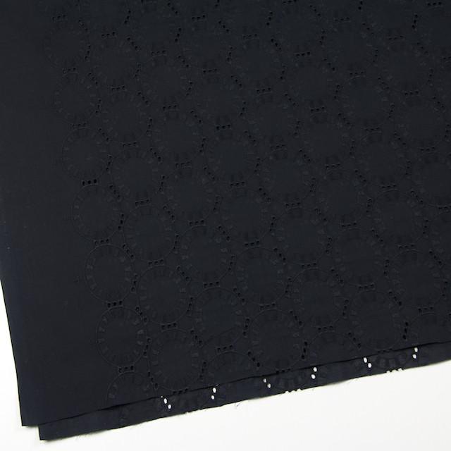 コットン×オーバル(ブラック)×ローン刺繍_全10色 イメージ2