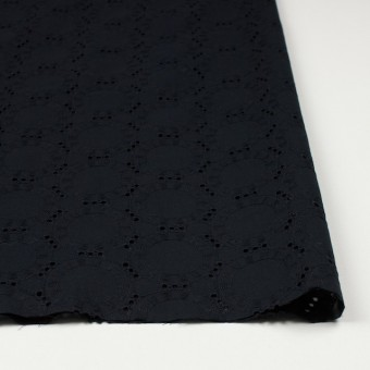 コットン×オーバル(ブラック)×ローン刺繍_全10色 サムネイル3