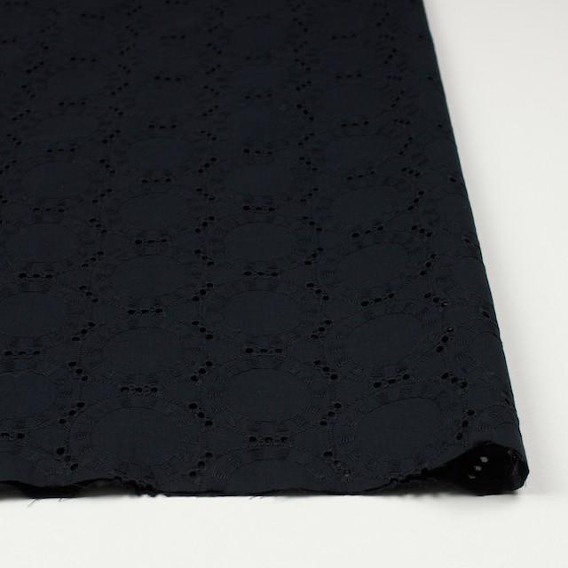 コットン×オーバル(ブラック)×ローン刺繍_全10色 イメージ3