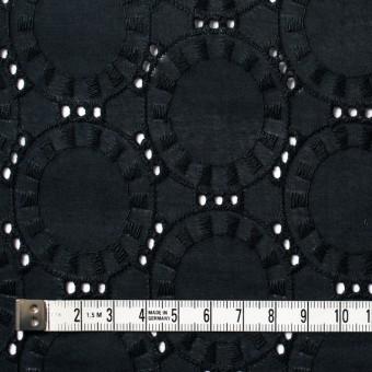 コットン×オーバル(ブラック)×ローン刺繍_全10色 サムネイル4