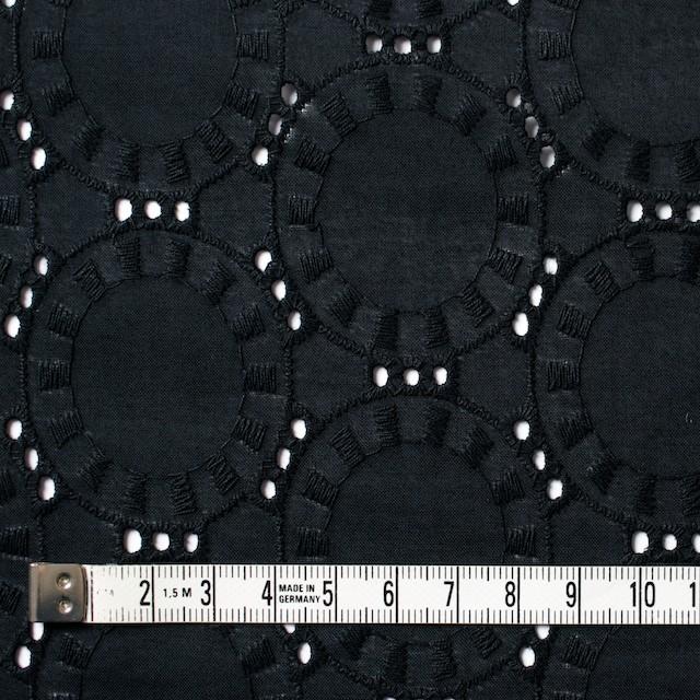 コットン×オーバル(ブラック)×ローン刺繍_全10色 イメージ4