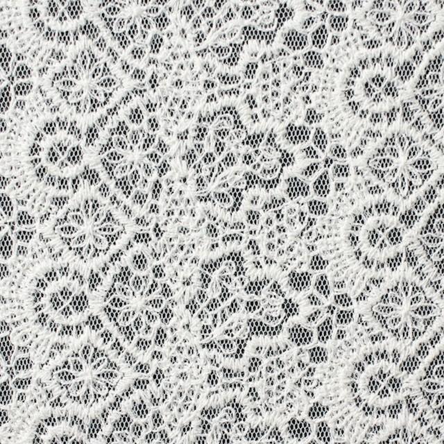 ナイロン×幾何学模様(オフホワイト)×チュール刺繍_全5色 イメージ1