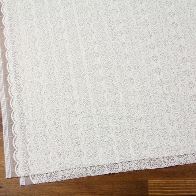 ナイロン×幾何学模様(オフホワイト)×チュール刺繍_全5色 イメージ2