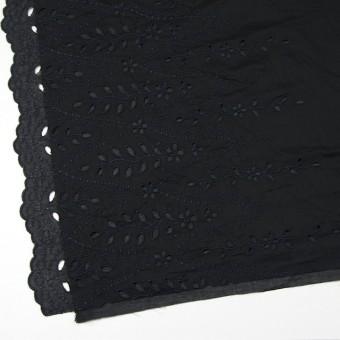 コットン×幾何学模様(ブラック)×ボイルワッシャー刺繍 サムネイル2