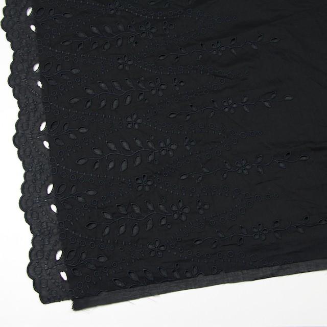 コットン×幾何学模様(ブラック)×ボイルワッシャー刺繍 イメージ2