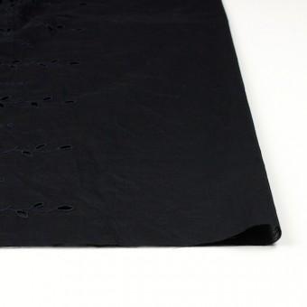 コットン×幾何学模様(ブラック)×ボイルワッシャー刺繍 サムネイル3