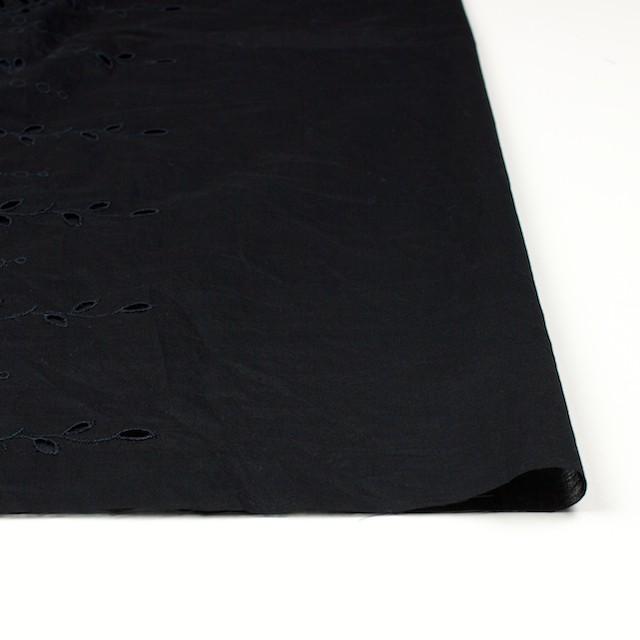 コットン×幾何学模様(ブラック)×ボイルワッシャー刺繍 イメージ3