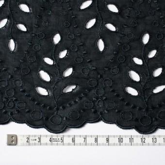 コットン×幾何学模様(ブラック)×ボイルワッシャー刺繍 サムネイル4