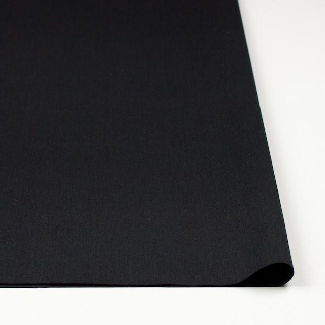 コットン&ウール×無地(ブラック)×ソフトギャバジン イメージ3