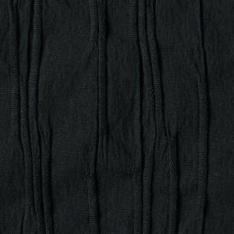 コットン&ナイロン混×無地(ブラック)×タテタック サムネイル1