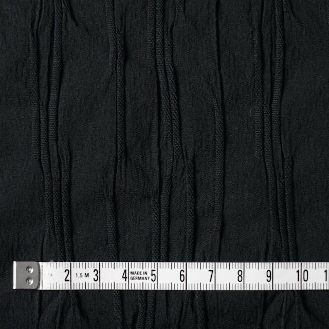 コットン&ナイロン混×無地(ブラック)×タテタック イメージ4
