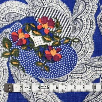 ウール×幾何学模様(ロイヤルブルー)×ボイル_全2色_イタリア製 サムネイル4