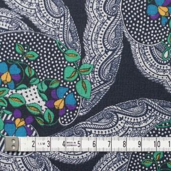 ウール×幾何学模様(ダークネイビー)×ボイル_全2色_イタリア製 サムネイル4