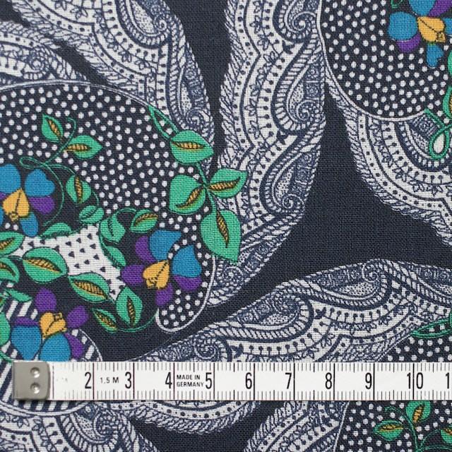 ウール×幾何学模様(ダークネイビー)×ボイル_全2色_イタリア製 イメージ4