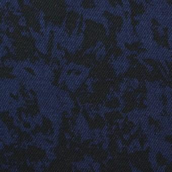 コットン&ポリウレタン×幾何学模様(ネイビー&ブラック)×チノクロス・ストレッチ サムネイル1
