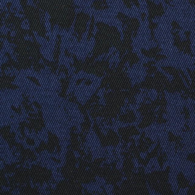 コットン&ポリウレタン×幾何学模様(ネイビー&ブラック)×チノクロス・ストレッチ イメージ1