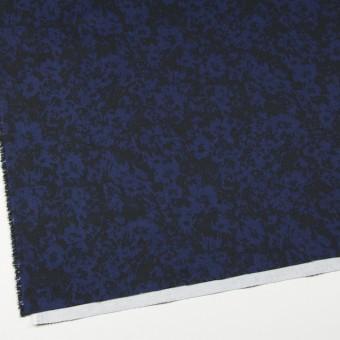 コットン&ポリウレタン×幾何学模様(ネイビー&ブラック)×チノクロス・ストレッチ サムネイル2