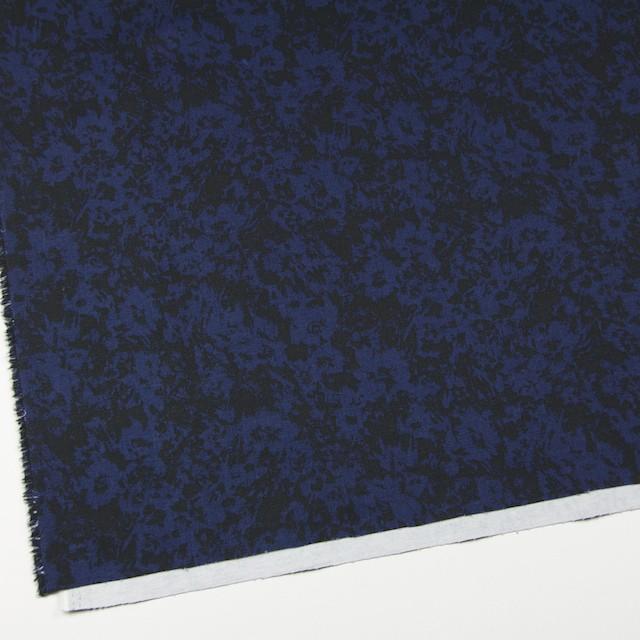 コットン&ポリウレタン×幾何学模様(ネイビー&ブラック)×チノクロス・ストレッチ イメージ2