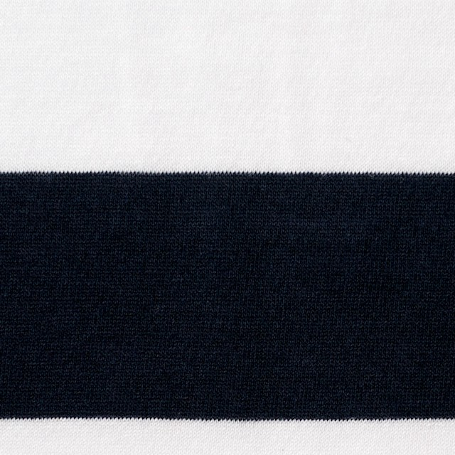 コットン×ボーダー(オフホワイト&ブラック)×天竺ニット_全2色 イメージ1