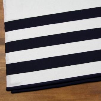 コットン×ボーダー(オフホワイト&ブラック)×天竺ニット_全2色 サムネイル2
