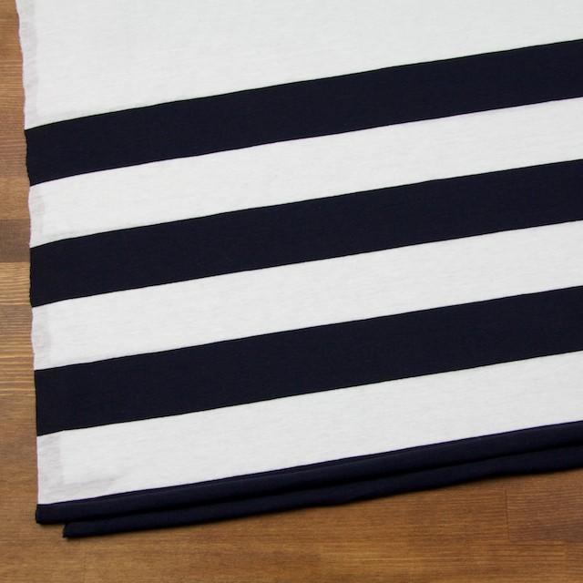 コットン×ボーダー(オフホワイト&ブラック)×天竺ニット_全2色 イメージ2