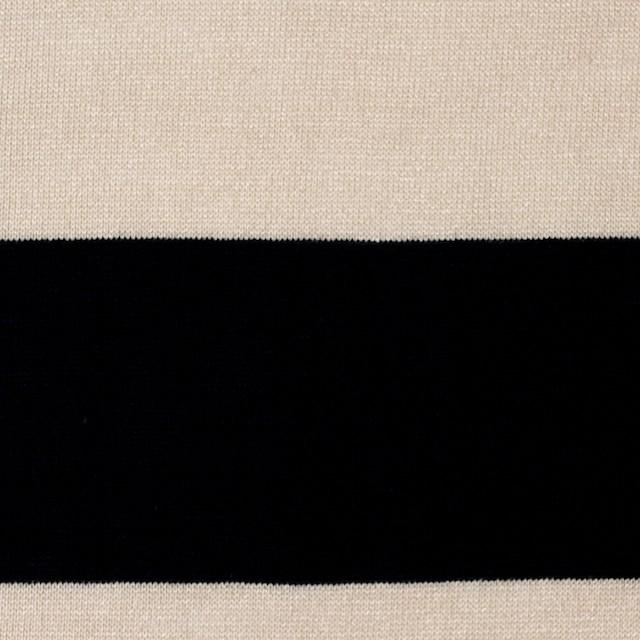 コットン×ボーダー(キナリ&ブラック)×天竺ニット_全2色 イメージ1