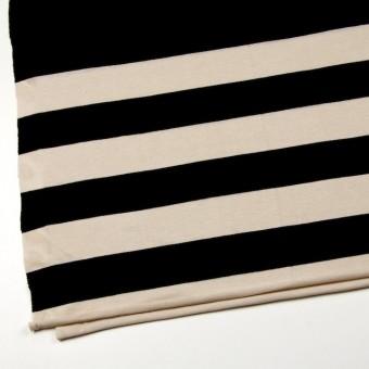 コットン×ボーダー(キナリ&ブラック)×天竺ニット_全2色 サムネイル2