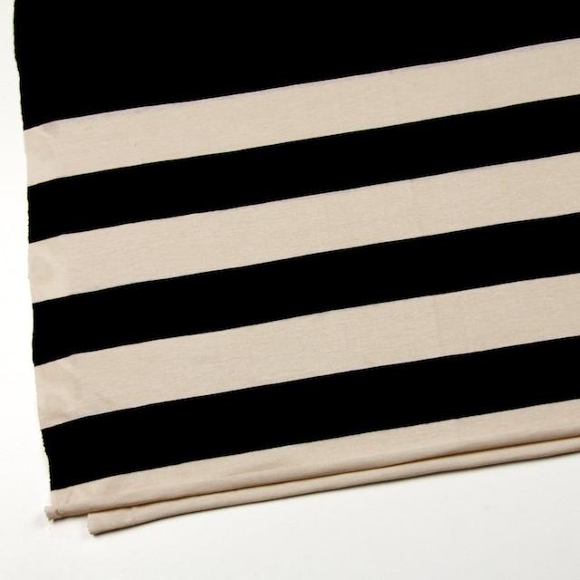 コットン×ボーダー(キナリ&ブラック)×天竺ニット_全2色 イメージ2