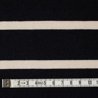 コットン×ボーダー(キナリ&ブラック)×天竺ニット_全2色 サムネイル4