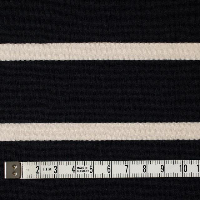 コットン×ボーダー(キナリ&ブラック)×天竺ニット_全2色 イメージ4