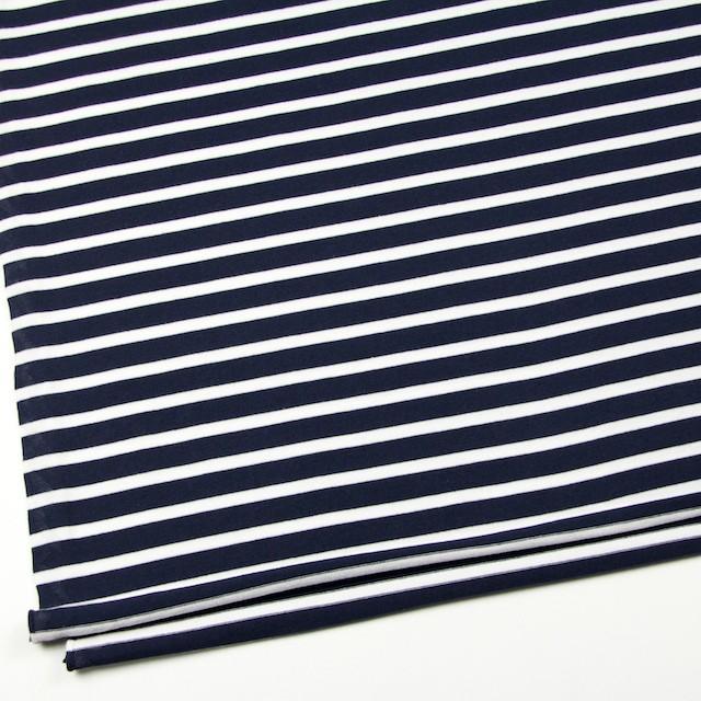 コットン×ボーダー(ホワイト&ダークネイビー)×天竺ニット イメージ2
