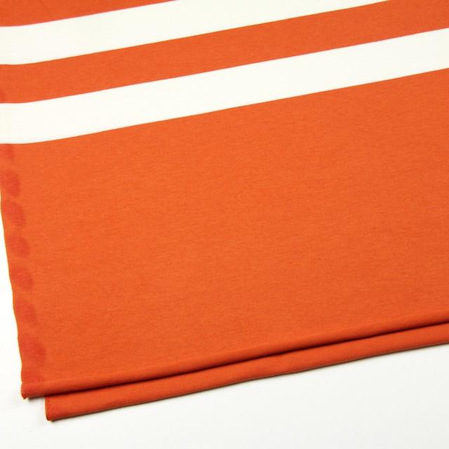 コットン×ボーダー(オレンジ&ネイビー、グレー)×天竺ニット_全3色 イメージ2