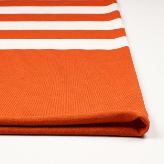 コットン×ボーダー(オレンジ&ネイビー、グレー)×天竺ニット_全3色 イメージ3