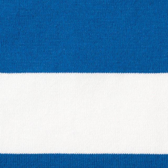 コットン×ボーダー(スカイブルー&ネイビー、グレー)×天竺ニット_全3色 イメージ1