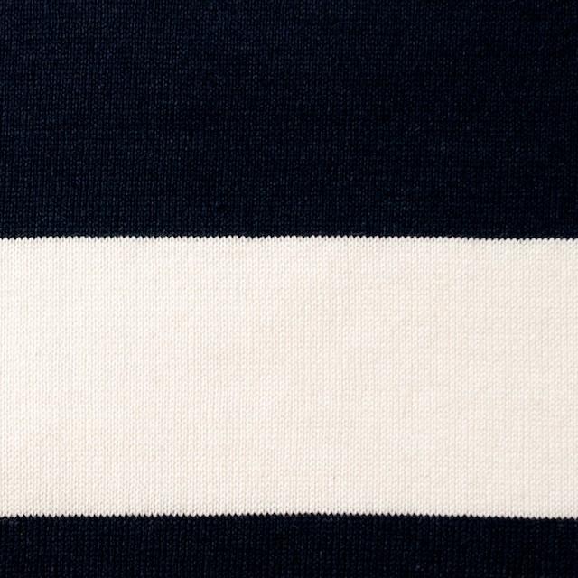 コットン×ボーダー(ネイビー&クリーム、グレー)×天竺ニット_全3色 イメージ1