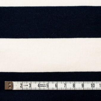 コットン×ボーダー(ネイビー&クリーム、グレー)×天竺ニット_全3色 サムネイル4