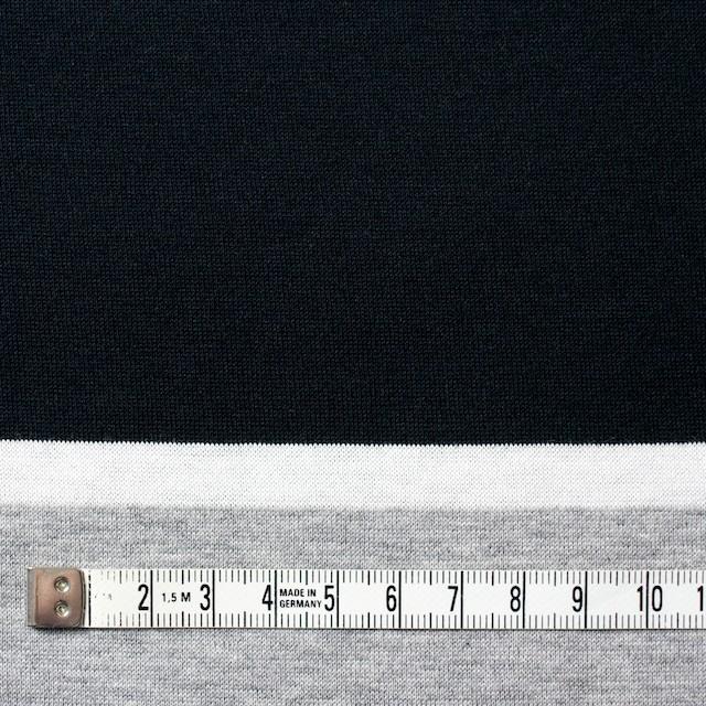 コットン×ボーダー(グレーミックス)×天竺ニット_全3色_パネル イメージ4