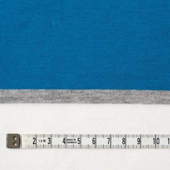 コットン×ボーダー(ブルーミックス)×天竺ニット_全3色_パネル サムネイル4