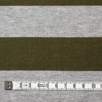 コットン×ボーダー(カーキ&グレー)×天竺ニット_全2色 サムネイル4