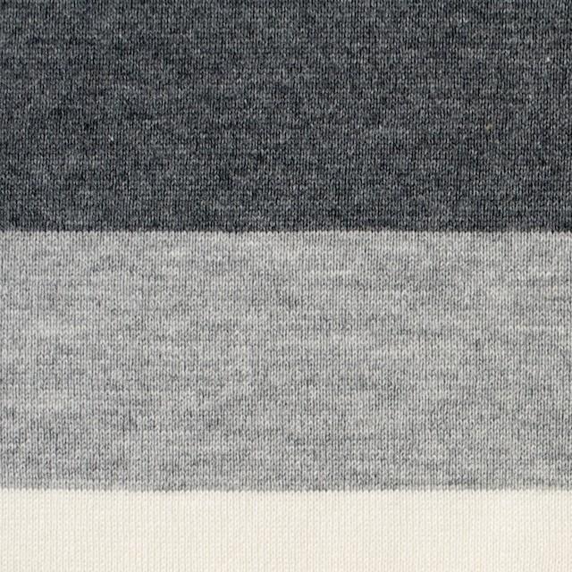 コットン×ボーダー(グレーミックス)×天竺ニット_全2色 イメージ1