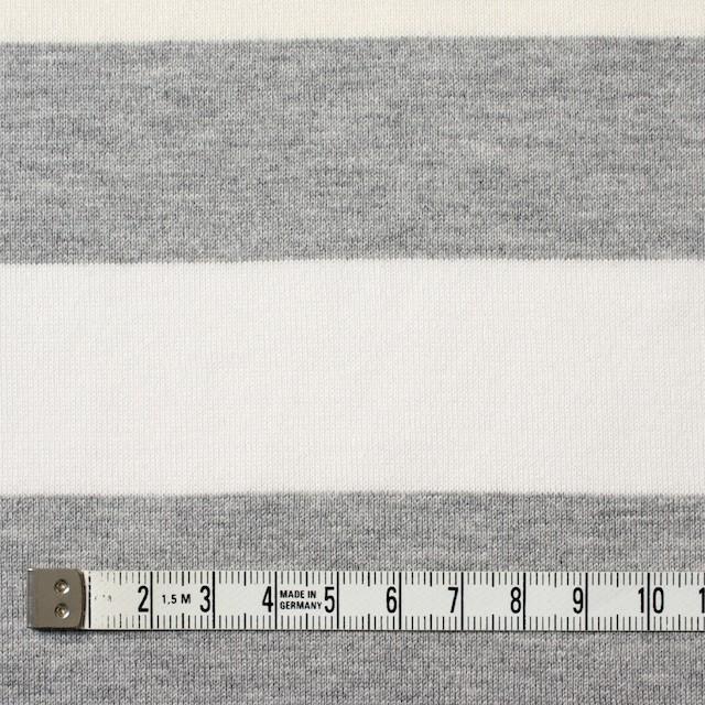コットン×ボーダー(グレーミックス)×天竺ニット_全2色 イメージ4