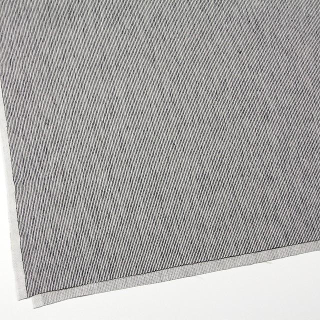 リネン&コットン×ストライプ(ダークネイビー)×コード織 イメージ2