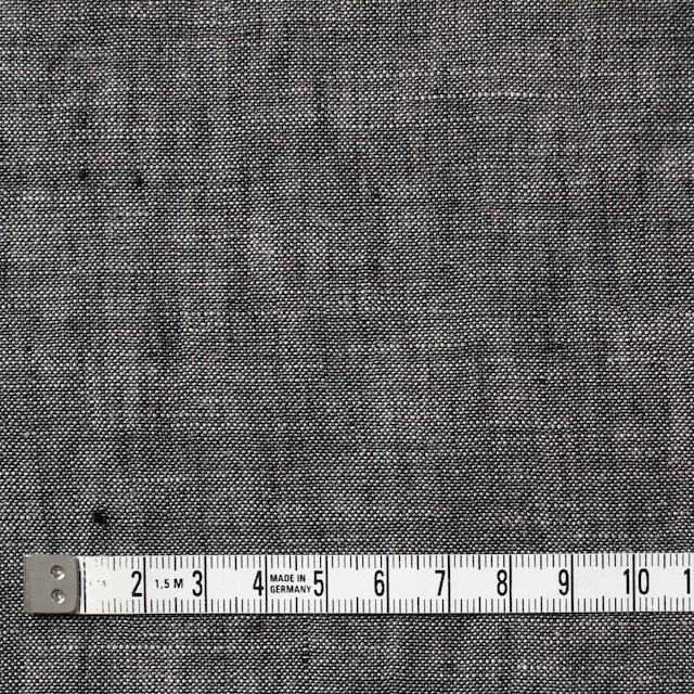 リネン×無地(チャコールグレー)×ガーゼ イメージ4