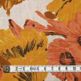 リネン×フラワー(オレンジ)×薄キャンバス_全2色 サムネイル4