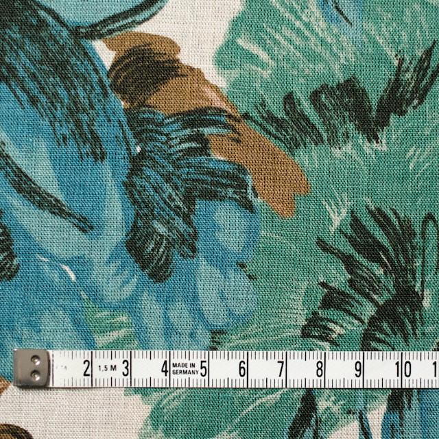 リネン×フラワー(ブルー)×薄キャンバス_全2色 イメージ4