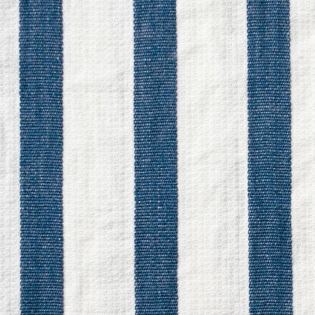 コットン×ストライプ(ブルーグレー)×二重織 イメージ1