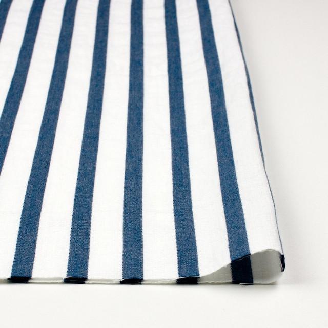 コットン×ストライプ(ブルーグレー)×二重織 イメージ3