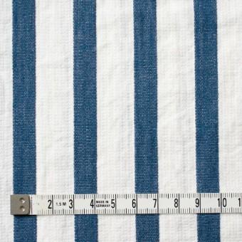 コットン×ストライプ(ブルーグレー)×二重織 サムネイル4