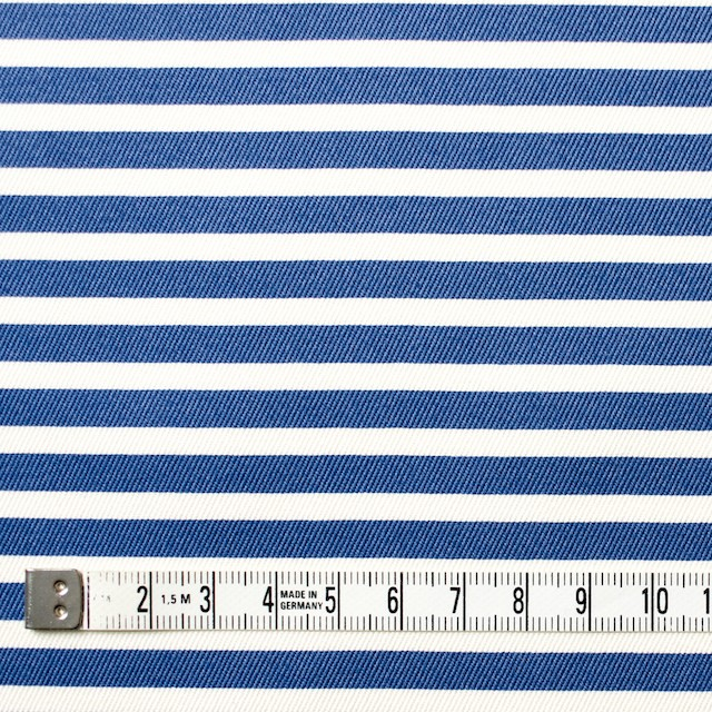コットン&レーヨン×ボーダー(サファイアブルー)×チノクロス_イタリア製 イメージ4